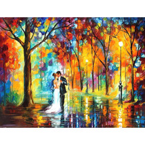 Pintura Al Óleo Rainy Wedding Por Leonid Afremov