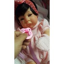 Bebê Reborn Maria Elisa 45 Cm Toda Vinil Promoção
