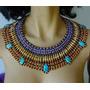 Colar Egípcio Dez Mandamentos Fantasia Egipcia Cleopatra