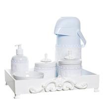 Kit Higiene Provençal Porcelana 6 Itens Com Capa Quarto Bebê