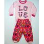 Pijama Conjunto De Algodón Para Niña Bebé 12 Meses Rosado
