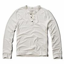 Abercrombie & Fitch - Camisa Henley Manga Longa