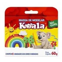 Pacote 12 Massa Modelar 6 Cores Koala Atacado Material Escol