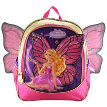 Mochila De Costas G Barbie Butterfly Princesa Fairy Infantil