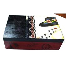 Caixa Em Mdf Decorada Chapéu Preto