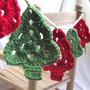Guirnalda De Arbolitos De Navidad Tejidas De Diseño