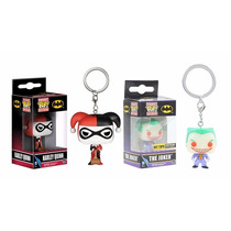 Funko Pop Set 2 Llaveros Joker And Harley Quinn Dc