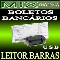 Leitor Scanner Codigo De Barras Boleto Bancario P/ Porta Usb