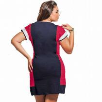 Vestido Plus Size Social Tubinho Festa Para Gordinhas Lindo