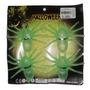 Pack 4 Arañas Fosforecente Disfraz Halloween Fluor Fiestaclu