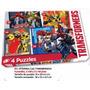Puzzle. Rompecabezas. 4 Puzzles. Transformers