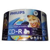 Cd Virgen Imprimible Philips 52x 50 Unidades