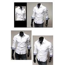 Camisa Manga Longa Slim Fit\camisa Masculina Para Casamento