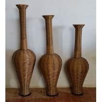 vasos decorativos grandes de madeira
