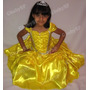Fantasia Vestido De Festa Infantil Princesa Bela Modelo Luxo