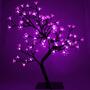 Arbol Navideño Luces Led Violetas Bonsai Cerezo Casamientos
