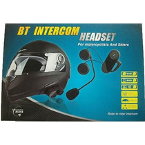 Intercomunicador Bluetooth Moto Capacete 1 Central 800 Mts