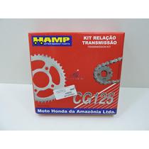 Kit Relação + Lona Freio Fan125 2009 2013 Original Hamp