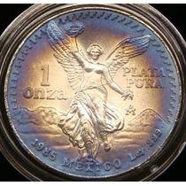 Moneda Mexico 1985 1 Onza Troy Patina Hermosa