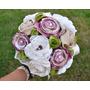 Bouquet Con Flores De Tela, Para Novias, Quinceañeras.