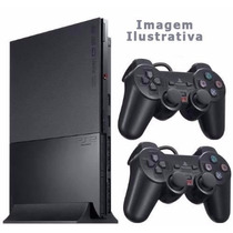 Playstation 2 - Usado - Destravado 2 Controles - 3 Jogos Ps2