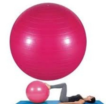 bf065b4b8d0bb Bola Suiça Pilates Yoga Abdominal Fitness 65cm Bomba Rosa - R  44