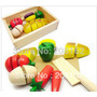 Brinquedos Educativos De Madeira Caixa De Frutas Artificial