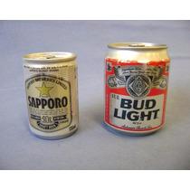 02 Mini Latas Sapporo Budweiser - Cheias - Cerveja