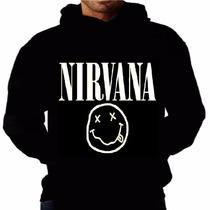 Blusa Nirvana Bolso Capuz Banda Moleton Rock