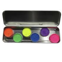 Kit 6 Pz Neon Pintacaritas Maquillaje Activación Con Agua