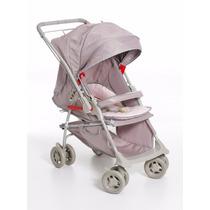 Carrinho De Bebê Galzerano Maranello Reversível Cinza E Rosa