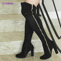 Bota Over The Knee Feminina Via Marte 16-5005 Preto