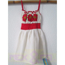 Vestido Bordado En Manta Oaxaca Artesanía México