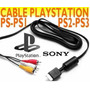 100% Original Sony Cable S-video Y Audio Nuevo Ps1 Ps2 Ps3