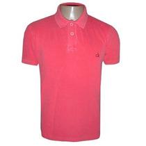Camisa Calvin Klein Gola Polo Camiseta Rosa Pink