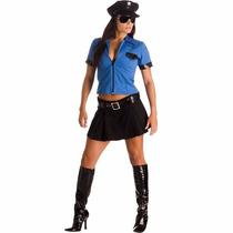 Fantasia Policial Blusa E Saia Heat Girl Sulamericana