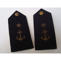 Antigo Par De Platinas Da Marinha Brasileira
