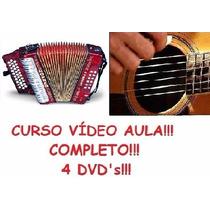 Curso De Acordeon E Violão! Aulas Em 4 Dvds!