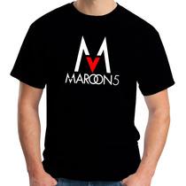 Camiseta Maroon5 - Pop Rock - Masc 100% Algodão Festival