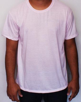 b3c0116e245ae Camiseta Rosa Claro Para Sublimação - R  13