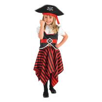 Disfraz De Pirata 3-4 Años P/niñas Vestido Elegante Mujer