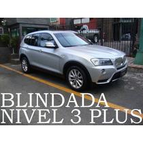 Bmw X3 2012 Blindada Nivel 3 Plus 35ia Biturbo Impecable