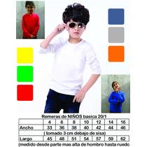 Remera Niños Pack X 6 Infantil Super Calidad Man-larga