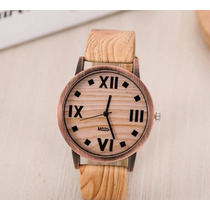 Relógio Cor Madeira Marrom Clássico Bonito Barato E Moderno