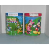 Potes Con Tapa Mickey, Minnie, Princesas Disney, Y Muchos +.