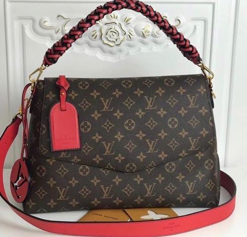Bolsa Louis Vuitton Vermelho Beauborg Original - R  3.960 dcd46722601