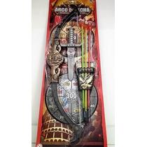 Arco E Flecha Infantil 3 Flechas + Espada + Suporte Inmetro