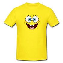 Camisa Personalizada Desenho Bob Esponja Calça Quadrada
