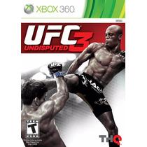Ufc 3 - Xbox 360 Mídia Física - Lt 3.0 Desbloqueado
