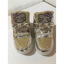 Zapatos De Niñas Kitty Luz Led 2016 Importados